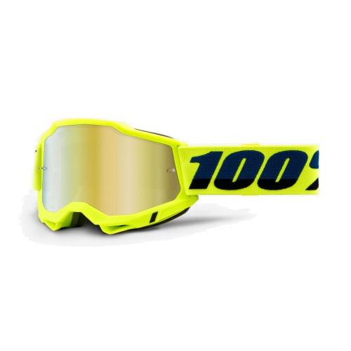 100% - ACCURI 2 - FLUO YELLOW MIRROR GOLD LENS