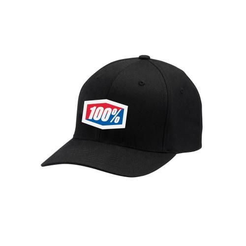 100% - HAT - CLASSIC FLEXFIT BLACK