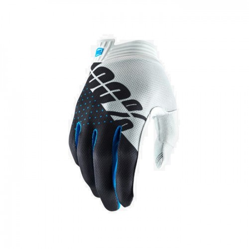 100% - iTRACK GLOVE - WHITE STEEL GREY