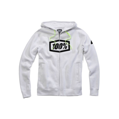 100% - FLEECE - SYNDICATE ZIP HOODED SWEATSHIRT - WHITE