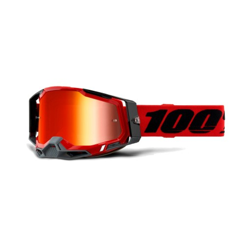 100% - RACECRAFT 2 - RED MIRROR RED LENS