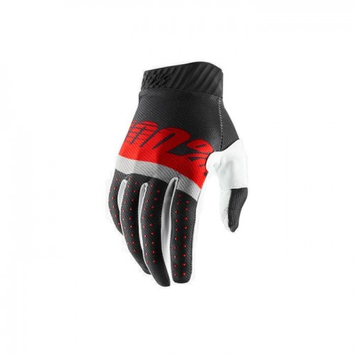 100% - RIDEFIT GLOVE - STEEL GREY RED