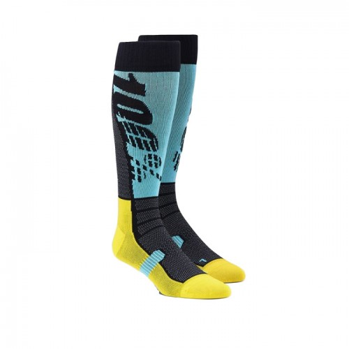 100% - SOCKS - HI SIDE PERFORMANCE MOTO SOCK - AQUA