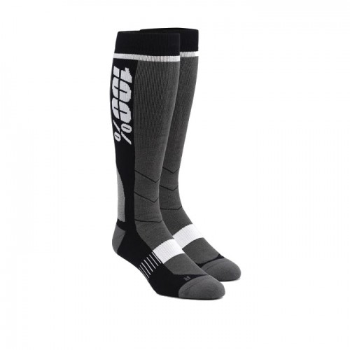 100% - SOCKS - HI SIDE PERFORMANCE MOTO SOCK - BLACK