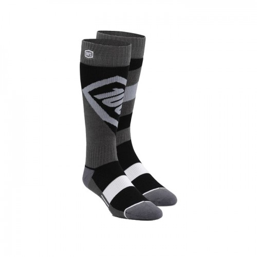 100% - SOCKS - TORQUE COMFORT MOTO SOCK - BLACK YOUTH