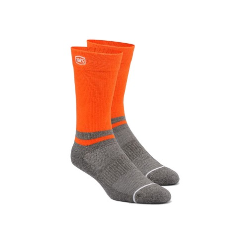 100% - SOCKS - BLOCK ATHLETIC SOCKS - ORANGE