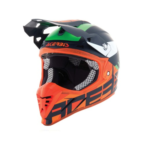 ACERBIS - PROFILE 3.0 HELMET - BLACK MAMBA BLUE ORANGE