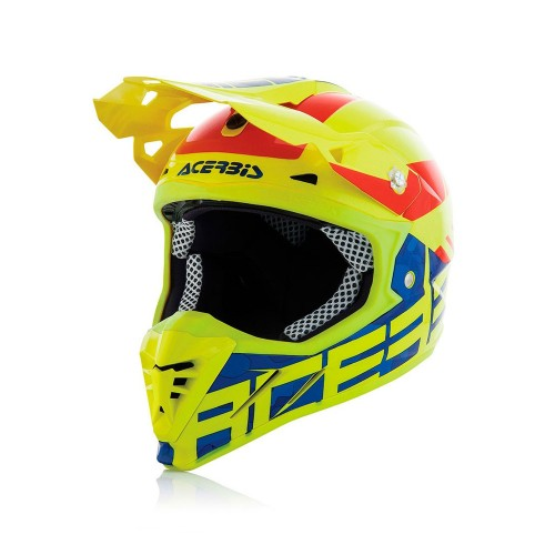 ACERBIS - PROFILE 3.0 HELMET - BLACK MAMBA YELLOW BLUE