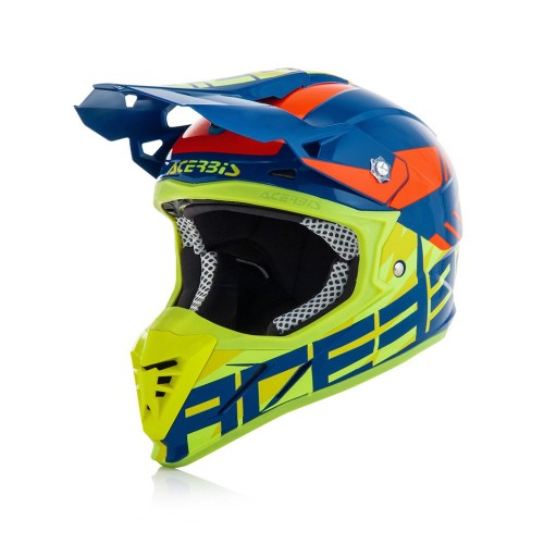 ACERBIS - PROFILE 3.0 HELMET - BLUE YELLOW