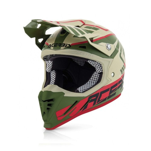 ACERBIS - PROFILE 3.0 HELMET - SKINVIPER BROWN GREEN
