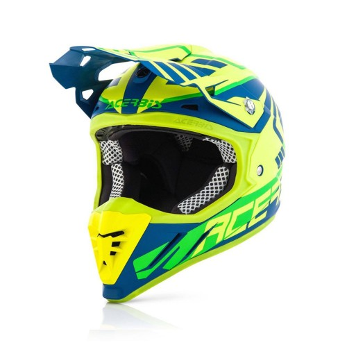 ACERBIS - PROFILE 3.0 HELMET - SKINVIPER YELLOW BLUE