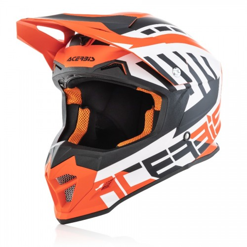 ACERBIS - PROFILE 4.0 HELMET - WHITE ORANGE