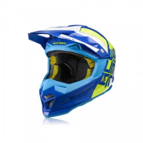 ACERBIS - PROFILE 4.0 HELMET - BLUE YELLOW
