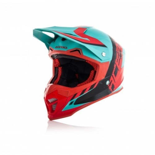 ACERBIS - PROFILE 4.0 HELMET - GREEN RED