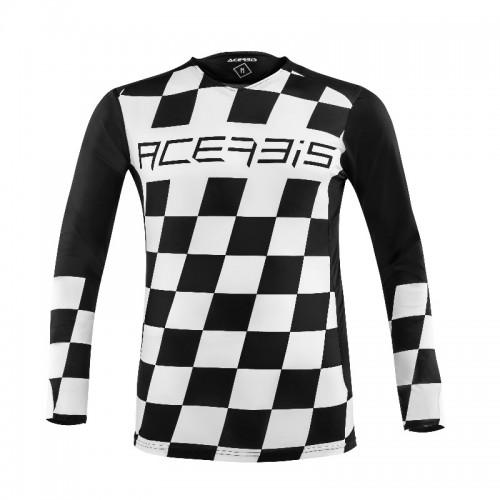 ACERBIS - START & FINISH MX JERSEY- BLACK WHITE