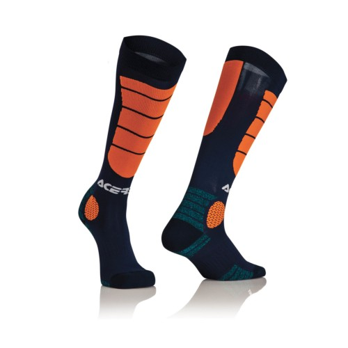 ACERBIS - MX IMPACT SOCK BLUE / ORANGE