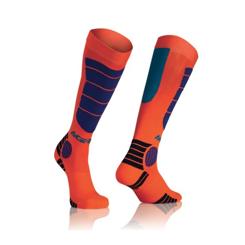 ACERBIS - MX IMPACT SOCK ORANGE / BLUE