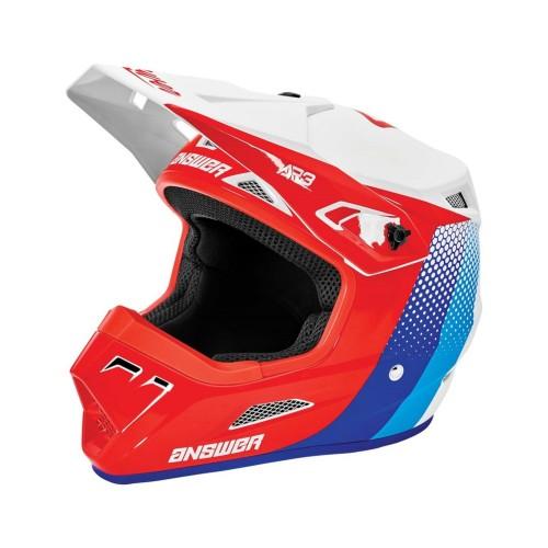 ANSR - AR3 PACE HELMET - WHITE/RED/HYPER BLUE