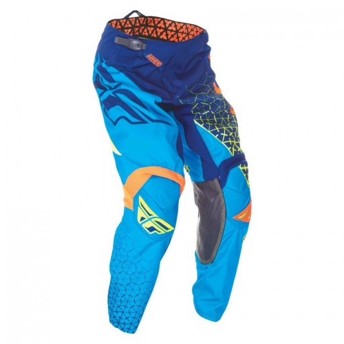 FLY RACING - MX PANTS - KINETIC TRIFECTA BLUE ORANGE HIVIZ