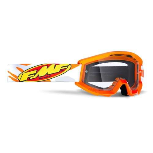 FMF - POWERCORE GOGGLES - ASSAULT GREY CLEAR LENS