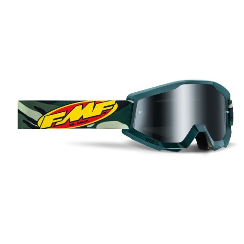 FMF - POWERCORE GOGGLES - ASSAULT CAMO MIRROR SILVER LENS