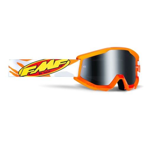 FMF - POWERCORE GOGGLES - ASSAULT GREY MIRROR SILVER LENS