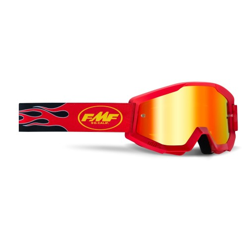 FMF - POWERCORE GOGGLES - FLAME RED MIRROR RED