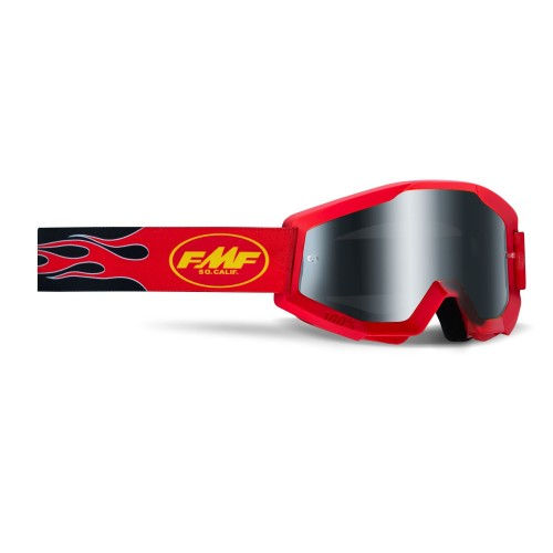 FMF - POWERCORE GOGGLES - FLAME RED SMOKE LENS