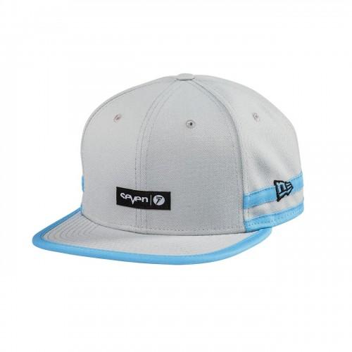 SEVEN MX - HAT - SLIDER HAT GREY BLUE OSFM