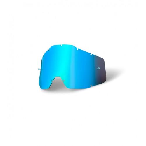 100% - RACECRAFT / ACCURI / STRATA ANTIFOG MIRROR BLUE LENS