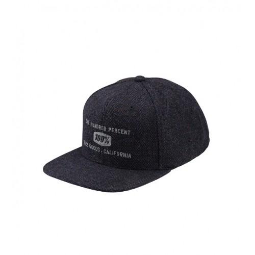100% - HAT - BROOMLEY SNAPBACK HERRINGBONE