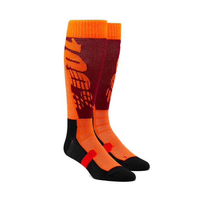 100% - SOCKS - HI SIDE PERFORMANCE MOTO SOCK - BURGUNDY