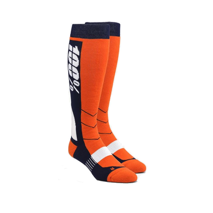 100% - SOCKS - HI SIDE PERFORMANCE MOTO SOCK - ORANGE