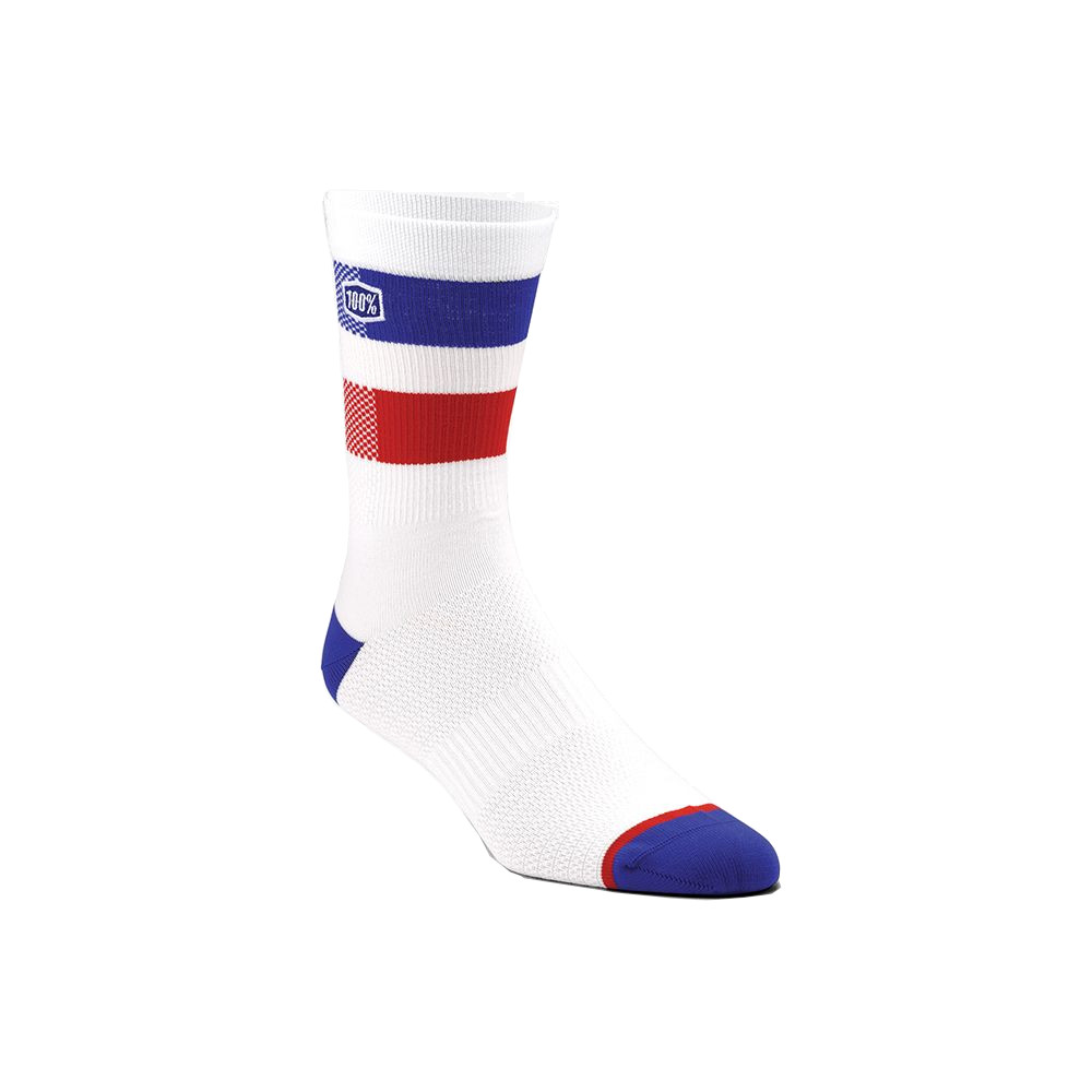 100% - SOCKS - FLOW PERFORMANCE SOCKS - WHITE