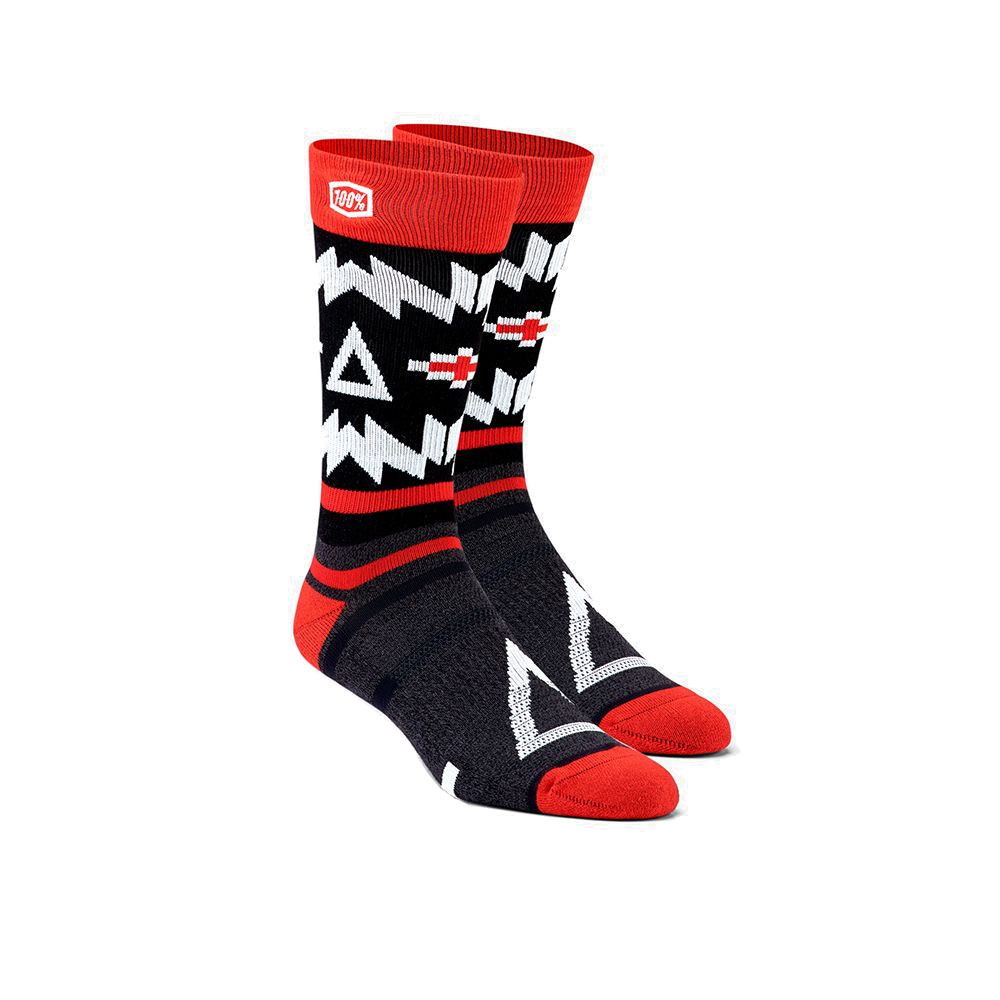 100% - SOCKS - JERONIMO ATHLETIC SOCKS - BLACK/RED