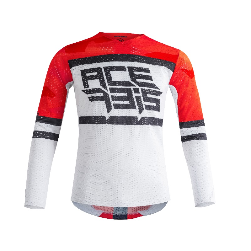 ACERBIS - HELIOS JERSEY- RED WHITE