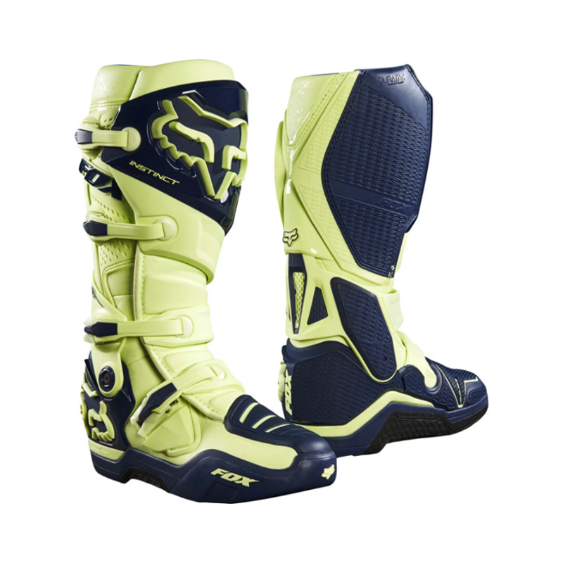 FOX RACING - INSTINC BOOTS - NAVY YELLOW LIMITED EDITION