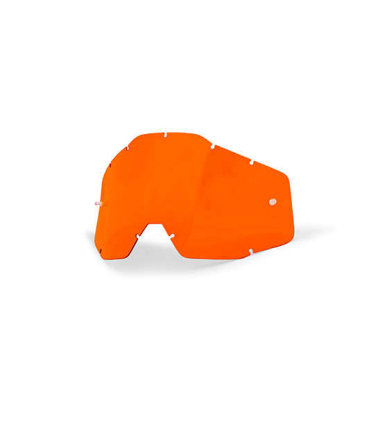 100% - RACECRAFT / ACCURI / STRATA ANTIFOG ORANGE LENS