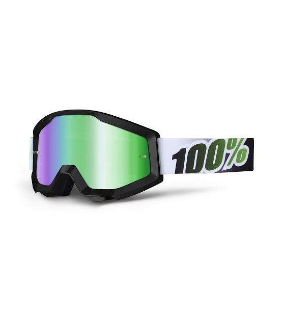 100% - STRATA - BLACK LIME MIRROR LENS