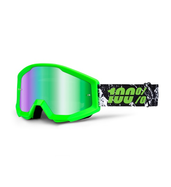 100% - STRATA - CRAFTY LIME MIRROR LENS