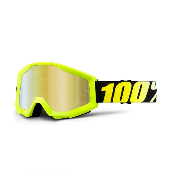 100% - STRATA - NEON YELLOW MIRROR LENS